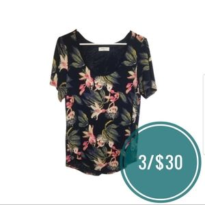 BABATON  'Sami' Dark Floral Scoop Neck T-Shirt